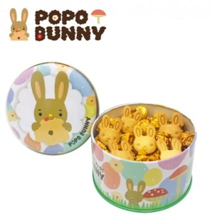 經典甜焦糖...夢幻泡泡罐-蘑菇型爆米花+小兔餅乾