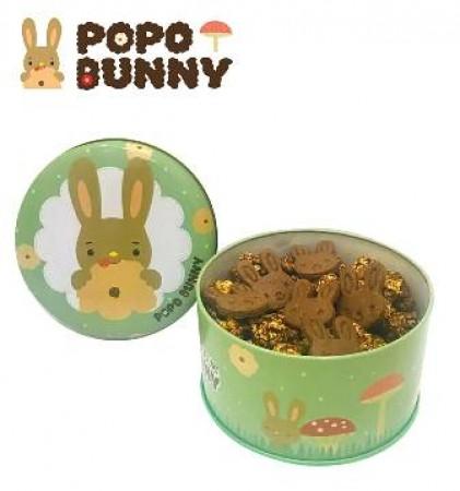 經典甜巧克力...綠野森林罐-磨菇型爆米花+小兔餅乾